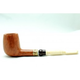 Briar and ivory pipe billiard chimney year 1950 by Paronelli Pipe