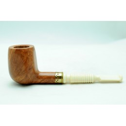 Briar and ivory pipe billiard panel year 1950 by Paronelli Pipe