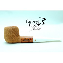 Briar pipe Paronelli oval rusticated natural handmade