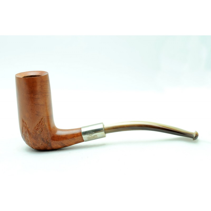 Briar and horn pipe half bent chimney year 1920 by Paronelli Pipe