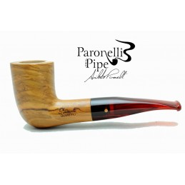 Olive wood pipe Paronelli freehand handmade