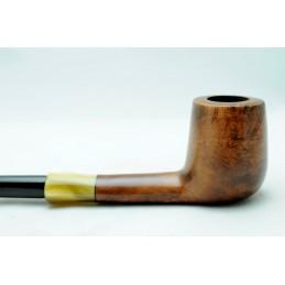 Briar pipe half bent churchwarden year 1980 by Paronelli Pipe