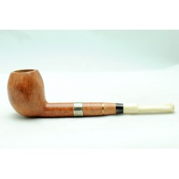 Briar and ivory pipe pear freehand year 1940 by Paronelli Pipe
