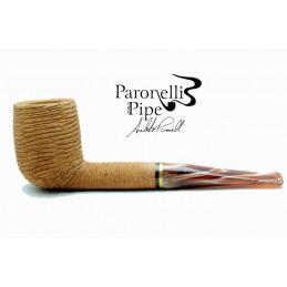 Gift box briar pipe Paronelli billiard 6mm handmade rusticated natural