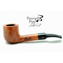 Gift box briar pipe Paronelli half bent pot 9mm handmade