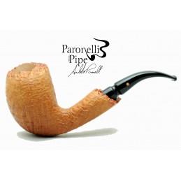 Briar pipe Paronelli COLOSSAL freehand handmade sandblast natural