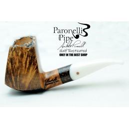 Briar pipe Paronelli HALF RUSTICATED handmade