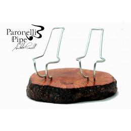 Porta pipe Paronelli radica 2 posti fatto a mano