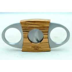 Cigar cutter Paronelli iron and olive wood