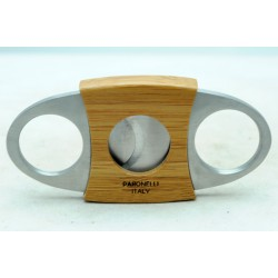 Tagliasigari Paronelli in acciaio e bambù