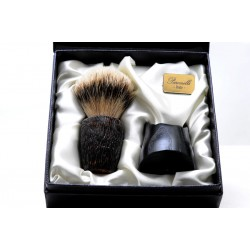 Box briar shaving brush Paronelli + base