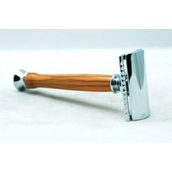Rosoio da barba sicurezza Paronelli in ulivo