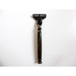 Rosoio da barba Mach3 Paronelli in Bog Oak