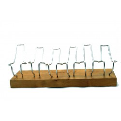 Pipe stand Paronelli wild olive wood 6 pipes handmade