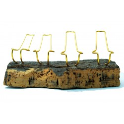 Pipe stand Paronelli cork 4 pipes handmade