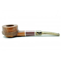 Briar pipe squat pot year 1975 by Paronelli Pipe