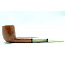 Briar and ivory pipe billiard year 1940 by Paronelli Pipe
