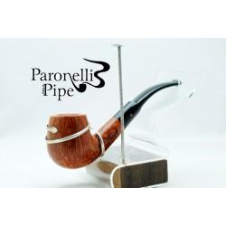 Kit Paronelli pipa radica e argento 925 fatta a mano