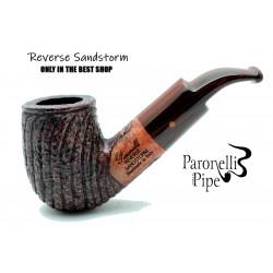 Briar pipe Paronelli REVERSE SANDSTORM handmade