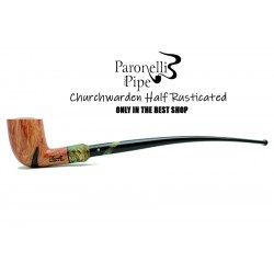 Briar pipe Paronelli CHURCHWARDEN HALF RUSTICATED handmade